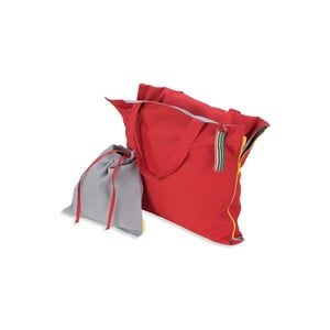 Skladacie ležadlo Hhooboz 150x62 cm, červené