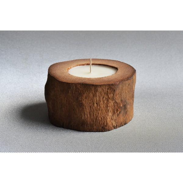 Palmová sviečka Legno s vôňou vanilky a pačuli, 40 hodín horenia