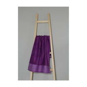 Fialový uterák z bavlny a bambusu My Home Plus Spa, 50×100 cm