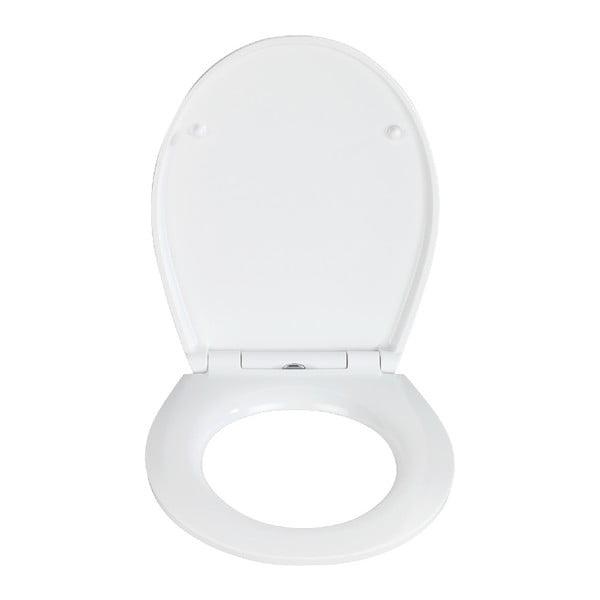 WC sedadlo s jednoduchým zatváraním Wenko Easy Cozy, 44,5 × 37 cm