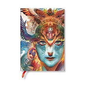 Linajkový zápisník s mäkkou väzbou Paperblanks Dharma Dragon, 13 x 18 cm
