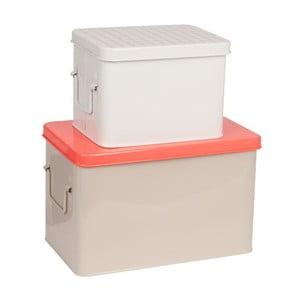 Sada 2 kovových boxov Warm Colour