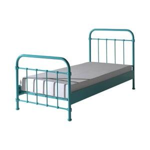 Mätovozelená kovová detská posteľ Vipack New York, 90 × 200 cm