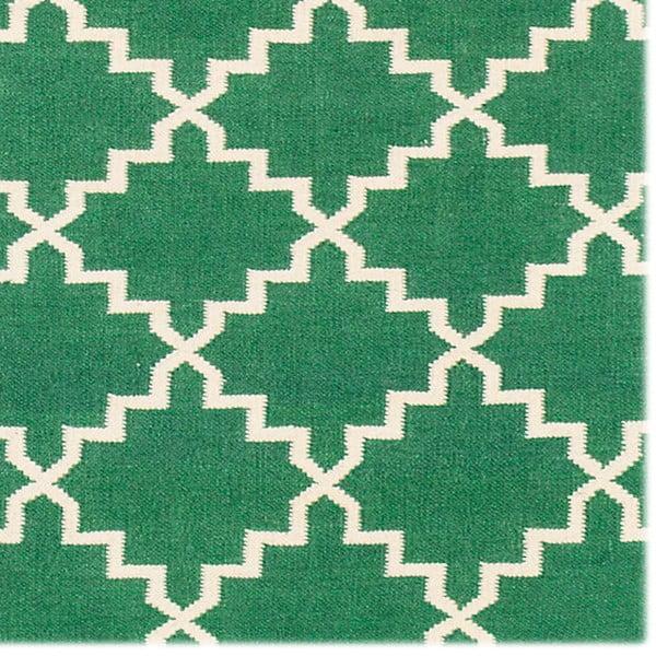 Vlnený koberec Eugenie Green, 240x155 cm