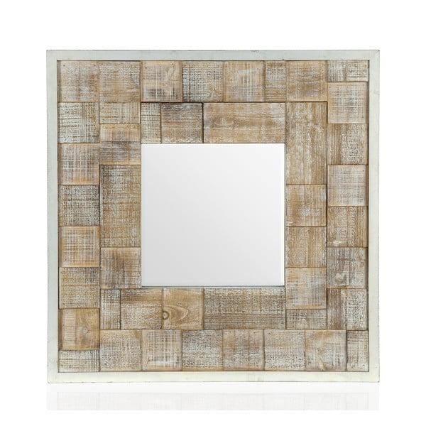 Zrkadlo Patina Checks, 80x80 cm