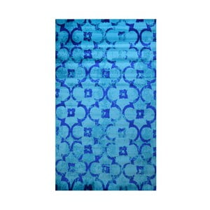 Modrý koberec Webtappeti Castle, 165 x 230 cm
