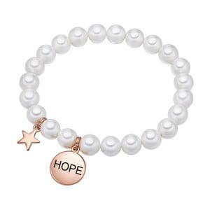 Biely perlový náramok Pearls of London Hope, dĺžka 19 cm