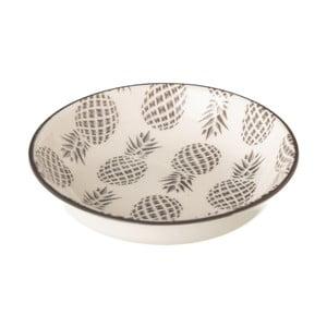 Sivobiely porcelánový hlboký tanier Unimasa Pinna, ⌀9,2 cm