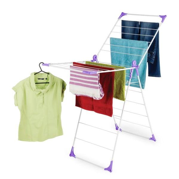 Set sušiaku a štipcov na prádlo Bonita Flora Purple, 24ks