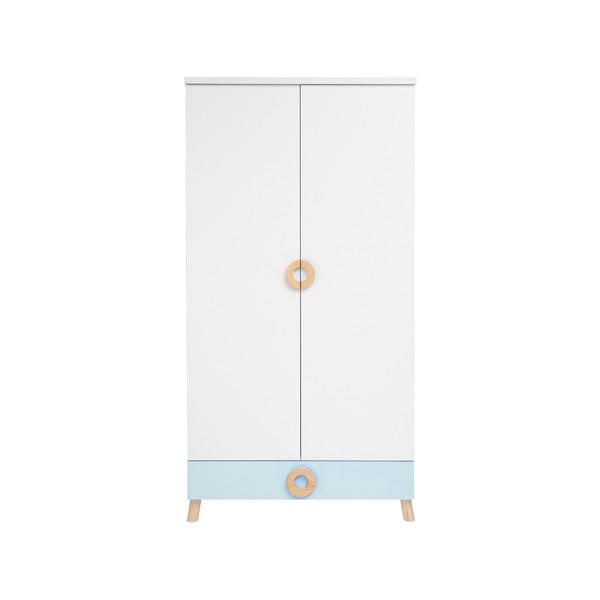 Modro-biela šatníková skriňa KICOTI Circle