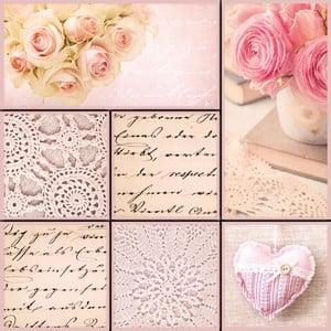Sada 7 dekoratívnych magnetiek Eurographics Remember Romance