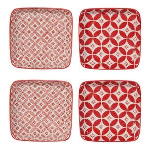 Sada 4 porcelánových tanierov Rubis, 12.5 cm