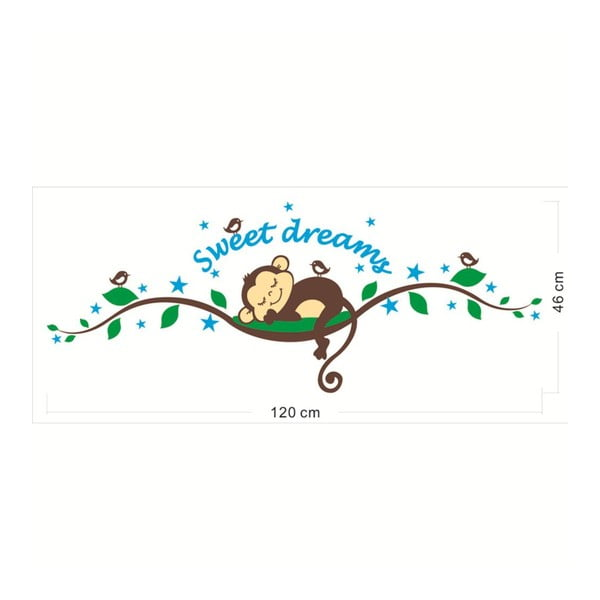 Sada samolepiek Ambiance Monkeys Sweet Dreams