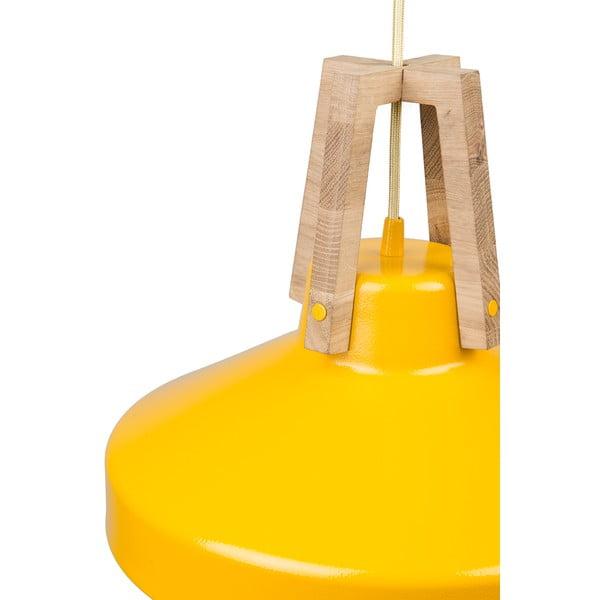 Žlté stropné svetlo Loft You Work, 44 cm