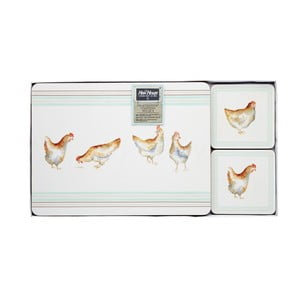 Sada 4 podložiek a prestieraní Kitchen Craft Hen House