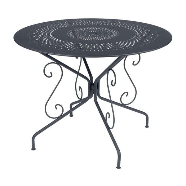 Antracitový kovový stôl Fermob Montmartre, Ø96cm