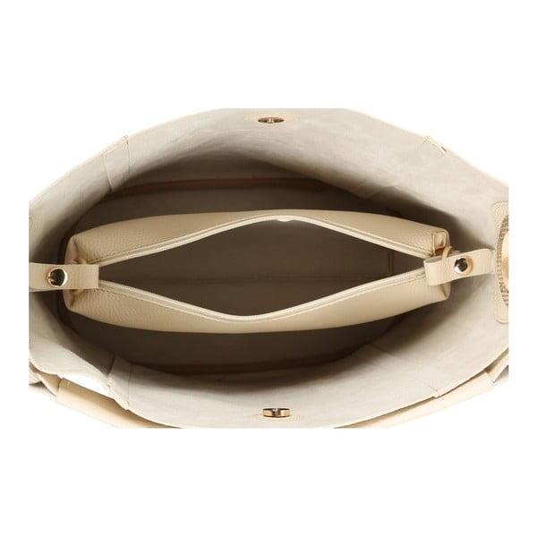 Krémovobiela kabelka z eko kože Beverly Hills Polo Club Rita