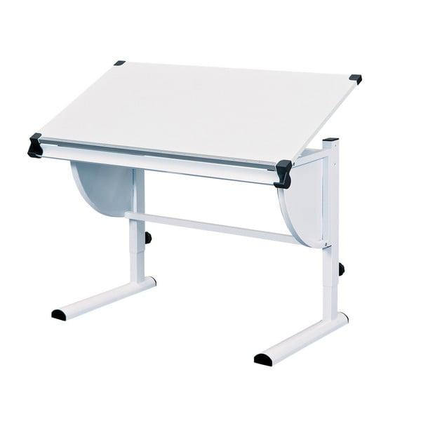 Biely nastaviteľný písací stôl 13Casa Beckett