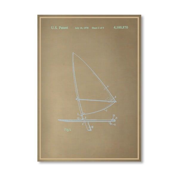 Plagát Wind Surfboard II, 30x42 cm