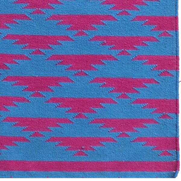 Vlnený koberec Kilim No. 40 Blue/Red, 120x180 cm