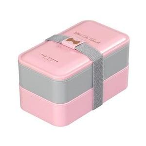 Ružovo-sivý obedový box Ted Baker