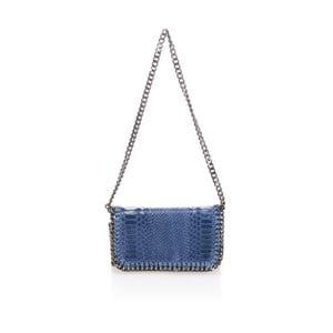 Modrá kožená listová kabelka Lisa Minardi Baso