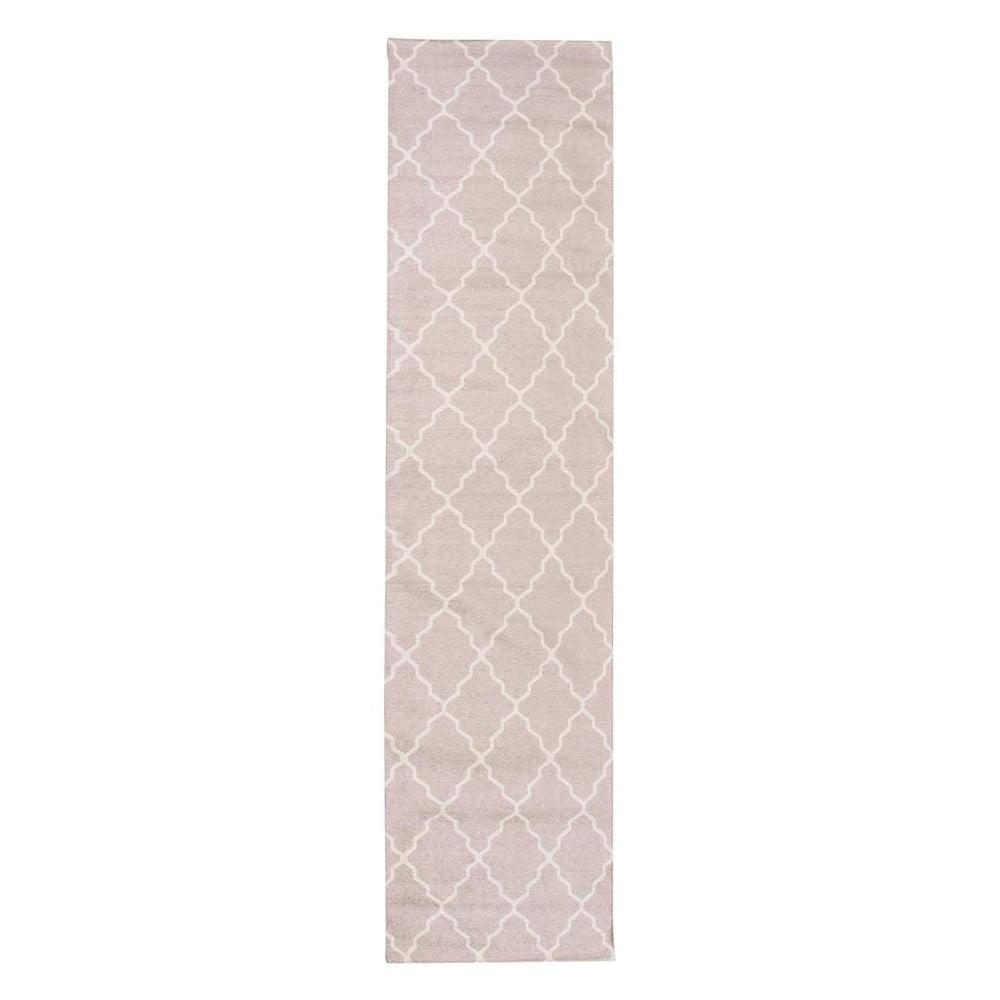 Ružový behúň Floorita Lattice Sand, 60 × 150 cm