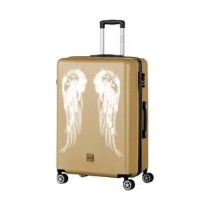 Cestovný kufor v zlatej farbe Berenice Wings, 107 l