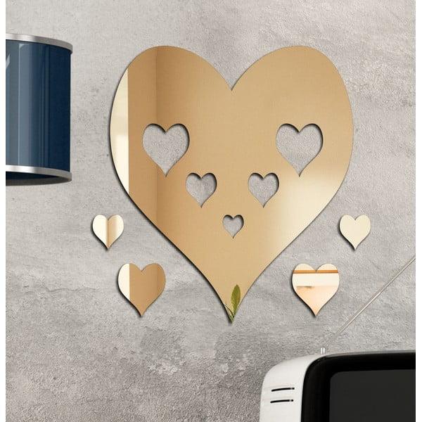 Dekoratívne zrkadlo Srdce v srdci