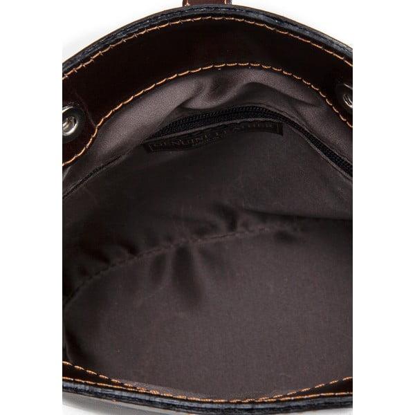 Tmavohnedá kožená kabelka Massimo Castelli Silverio