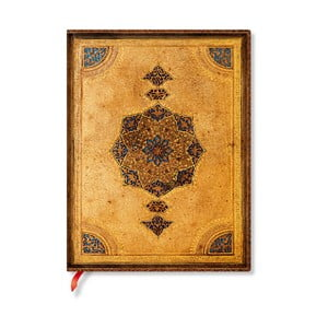 Nelinkovaný zápisník s mäkkou väzbou Paperblanks Safavid, 18 x 23 cm
