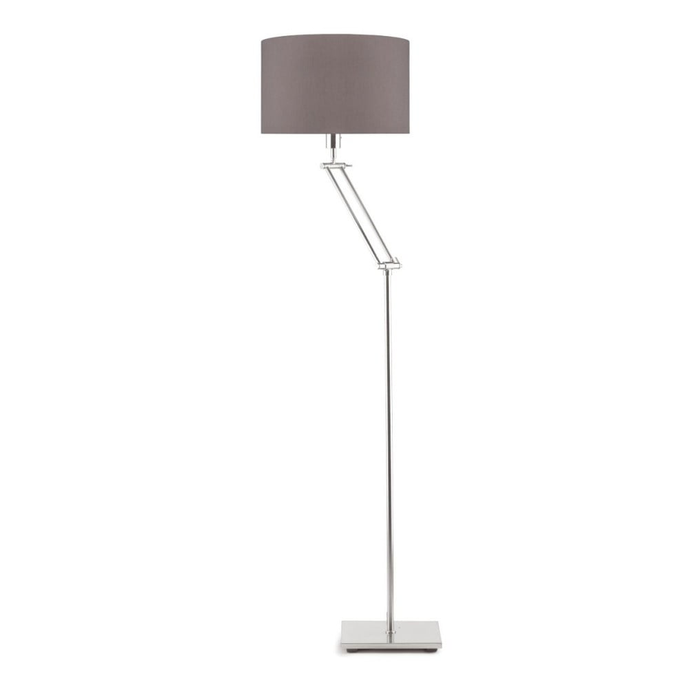 Sivá voľne stojacia lampa so sivým tienidlom Citylights Dublin