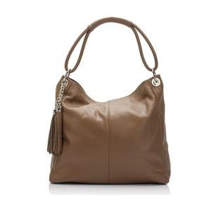 Béžová kožená kabelka Lisa Minardi Herta