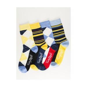 Sada 4 párov unisex ponožiek Funky Steps Moneta, veľkosť 39/45