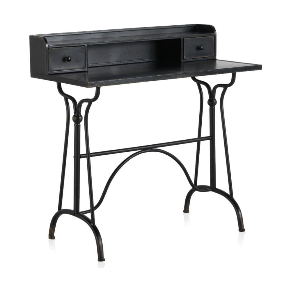 Detský čierny kovový pracovný stôl Geese Gerome