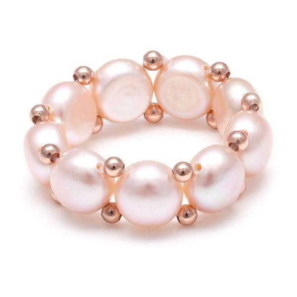 Prsteň z riečnych perál GemSeller Carnica, ružové perly