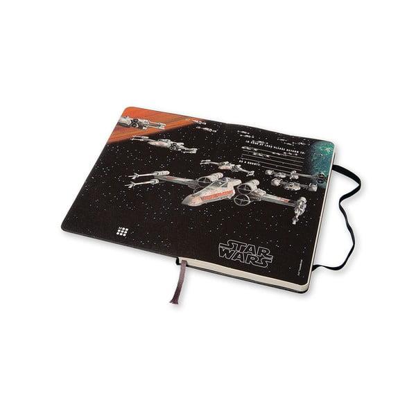 Týždenný diár Moleskine Stars Wars, 13x21 cm