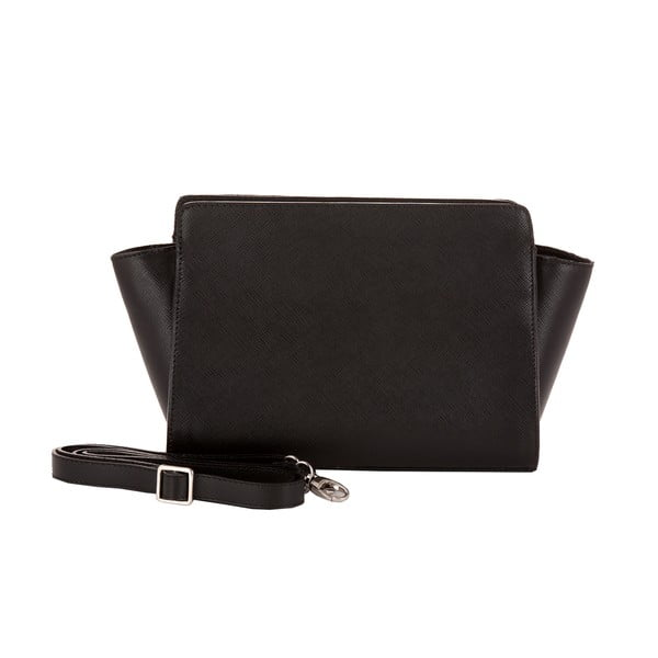 Čierna kabelka z pravej kože Andrea Cardone Mattia