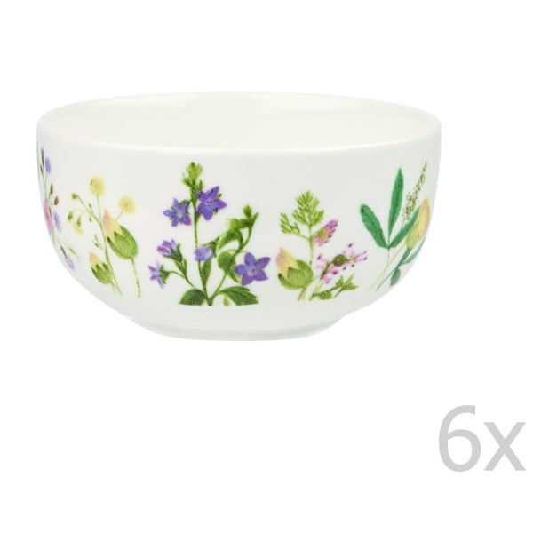 Sada 6 misiek Churchill China Himalyan Flowers, 13 cm