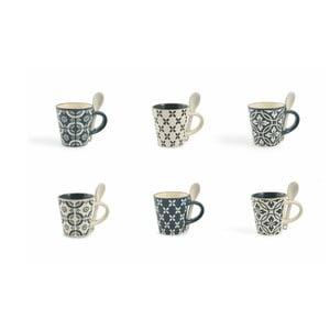 Sada 6 hrnčekov Villad'Este Azul Tazzine Caffe