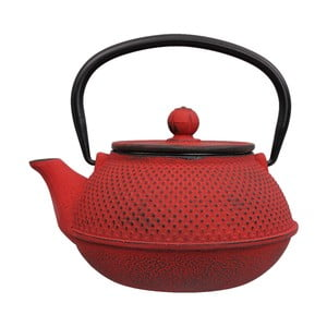Červená liatinová kanvica Tokyo Design Studio Xin, 800 ml