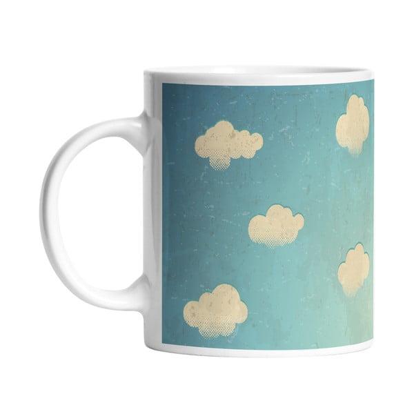 Keramický hrnček White Clouds, 330 ml