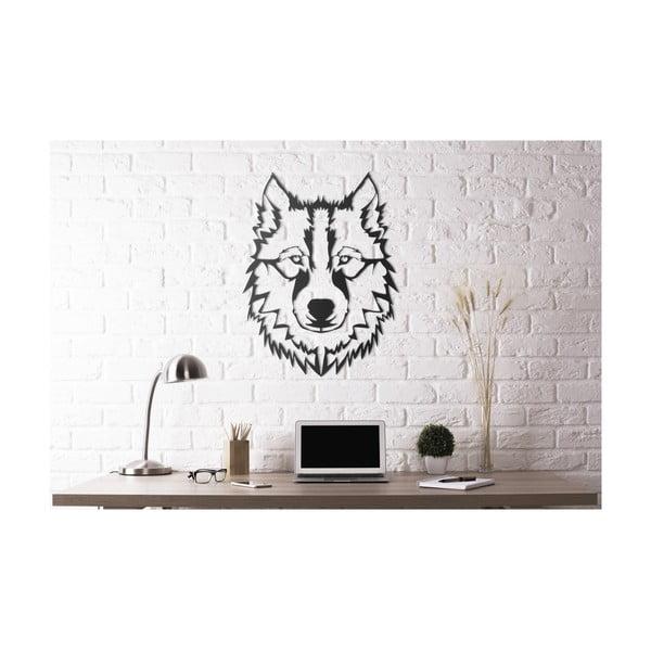 Nástenná kovová dekorácia Head Of The Wolf, 50×40 cm