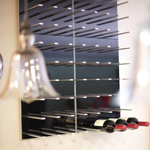 Nástenný stojan na víno STACT, zebrano