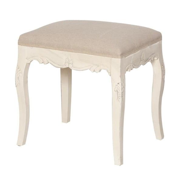 Krémovobiela čalúnená stolička z topoľového dreva Livin Hill Rimini