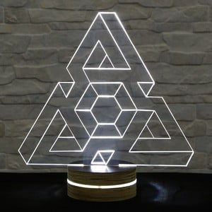 3D stolová lampa Triangle I