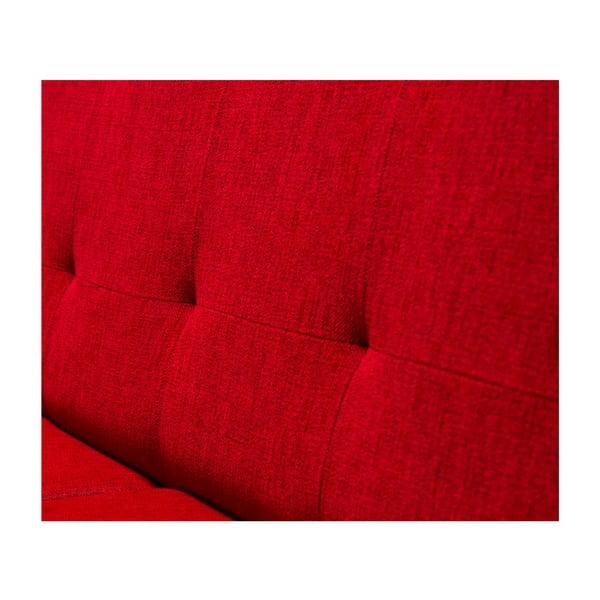 Červená rozkladacia pohovka Balcab Home Gina