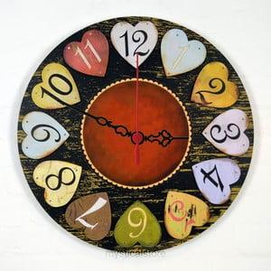 Nástenné hodiny Hearts, 30 cm