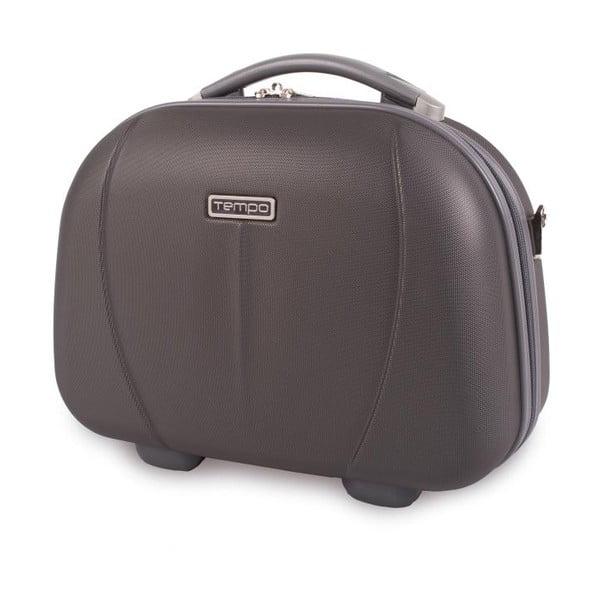 Antracitový cestovný kozmetický kufrík Tempo