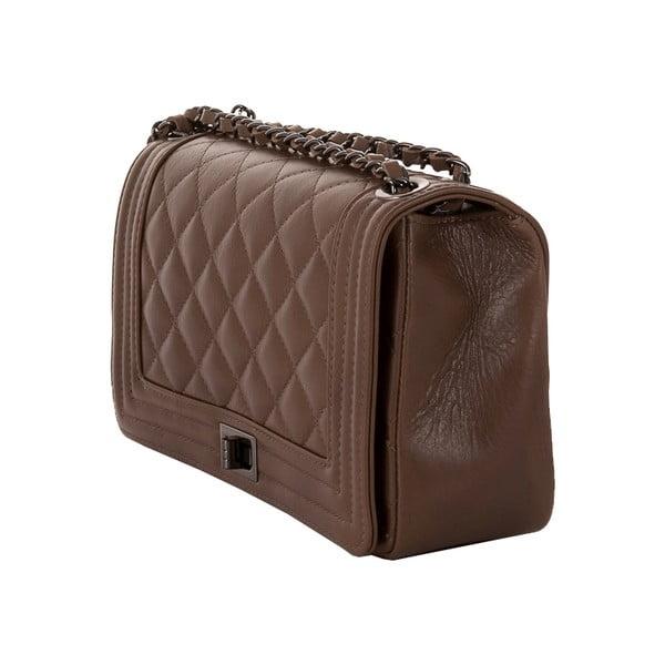 Sivohnedá kabelka z pravej kože Andrea Cardone Paula